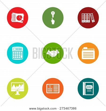 Statistic Icons Set. Flat Set Of 9 Statistic Icons For Web Isolated On White Background