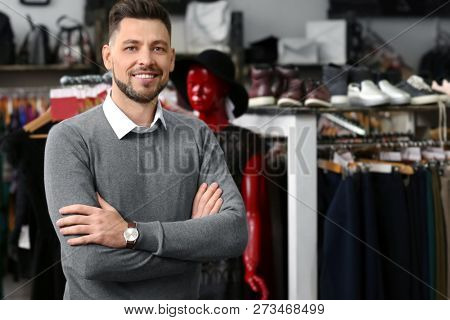 Business owner in his store