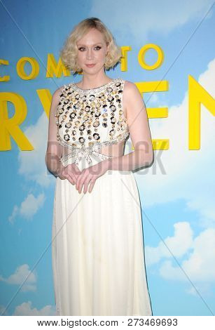 Gwendoline Christie at the Los Angeles premiere of 'Welcome To Marwen' held at the ArcLight Cinemas in Hollywood, USA on December 10, 2018.