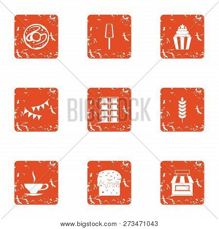 Introduce Icons Set. Grunge Set Of 9 Introduce Icons For Web Isolated On White Background