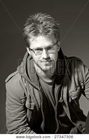 Portrait Of A Attractive Man, B&w
