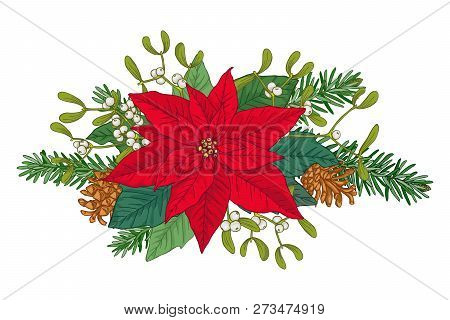 Christmas Bouquet Vector Photo Free Trial Bigstock