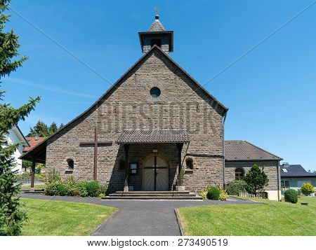 Parish Church Of Klasmuehle Village, Odenthal, Germany