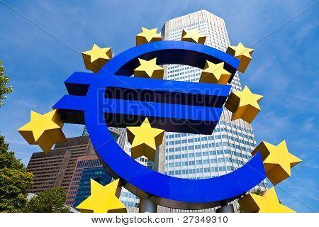 Euro Symbol, Frankfurt, Germany.