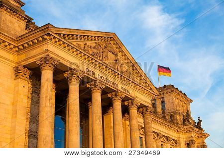 The Reichstag Building, Berlin, Germany.