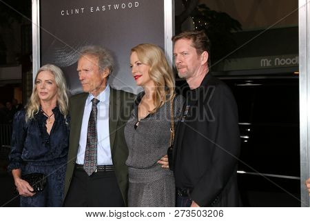 LOS ANGELES - DEC 10:  Christina Sandera, Clint Eastwood, Alison Eastwood, Stacy Poitras at the