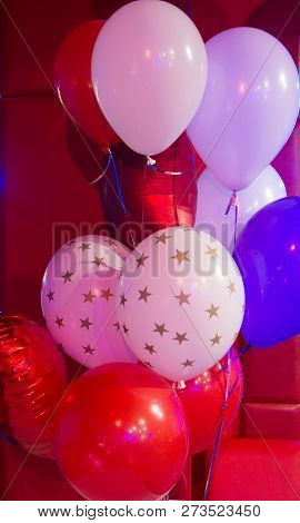 Balloon Traditional Holiday Attribute. Every Party Needs Balloons. Happy Birthday Concept. Celebrate