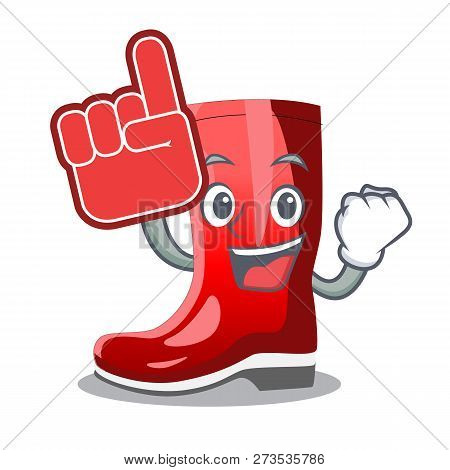 Foam Finger Muddy Farmer Boots Shape The Cartoon