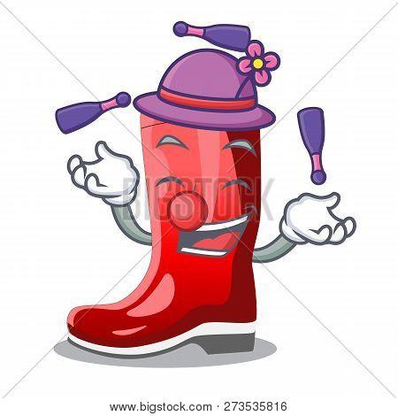 Juggling Muddy Farmer Boots Shape The Cartoon
