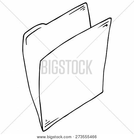 Folder For Files Icon. Vector Folder For Documents. Hand Drawn Folder With Files, Documents.