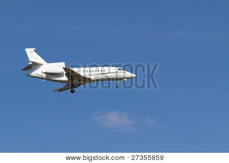 Landing Private Jet