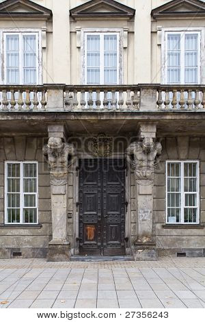 Ornate Entrance To An Old House