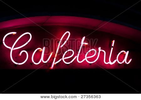 Cafeteria Neon Sign
