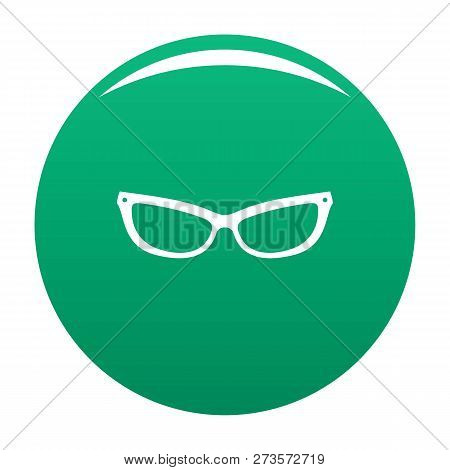 Astigmatic Eyeglasses Icon. Simple Illustration Of Astigmatic Eyeglasses Icon For Any Design Green