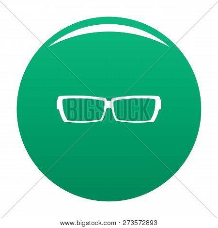 Astigmatic Glasses Icon. Simple Illustration Of Astigmatic Glasses Icon For Any Design Green