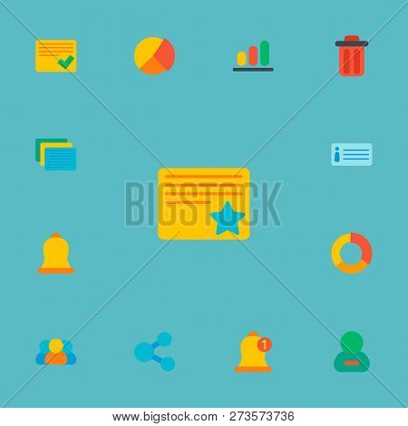 Set Of Project Icons Flat Style Symbols With Delete, Remove Member, Members And Other Icons For Your