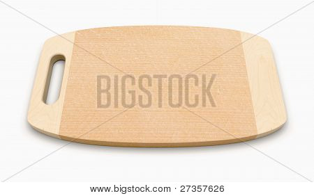 Isolated Wooden Cutting Board