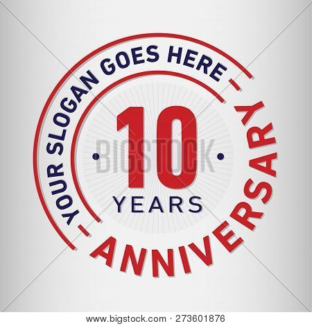 10 Years Anniversary Logo. 10th Vector And Illustration.