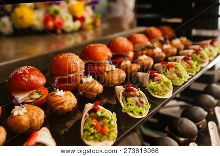 Delicious Canapes As Event Dish In Luxary Restaurant.