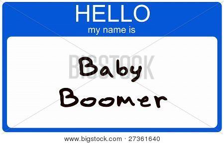 Baby Boomer Nametag