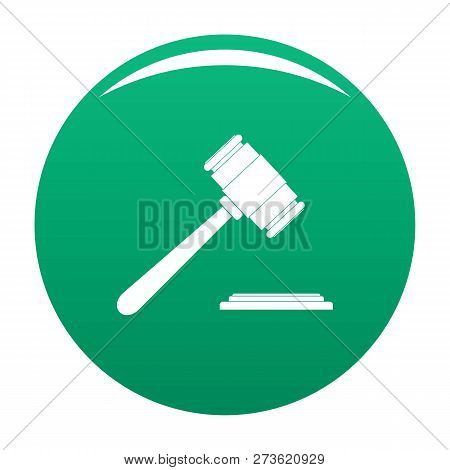 Auction Gavel Icon. Simple Illustration Of Auction Gavel Icon For Any Design Green