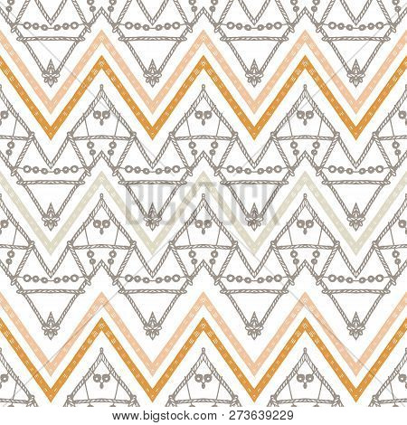 A Retro Gold Zigzag Chevron Vector Background.