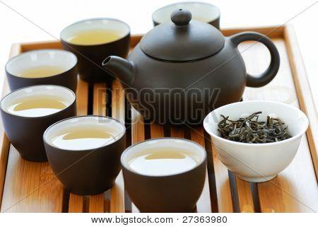 Teapot and Teacups on Teaset