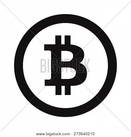 Bitcoin Icon Isolated On White Background. Bitcoin Icon In Trendy Design Style. Bitcoin Vector Icon