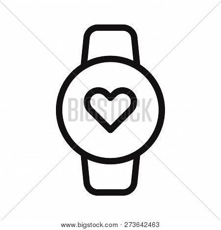 Heart Rate Watch Icon Isolated On White Background. Heart Rate Watch Icon In Trendy Design Style. He