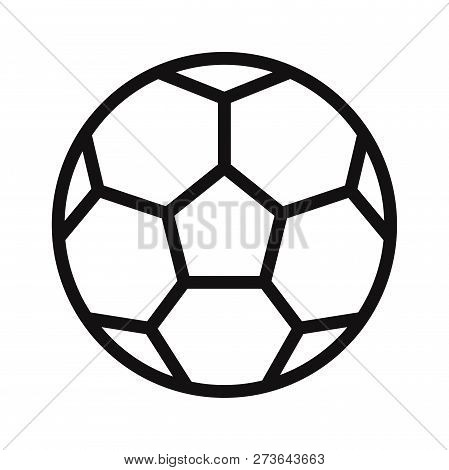 Soccer Ball Icon Isolated On White Background. Soccer Ball Icon In Trendy Design Style. Soccer Ball