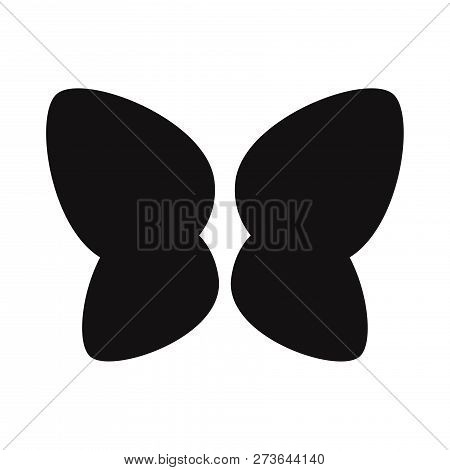 Butterfly Wings Icon Isolated On White Background. Butterfly Wings Icon In Trendy Design Style. Butt