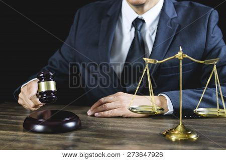 Legal Law, Judge Gavel With Justice Lawyers Advice With Gavel And Scales Of Justice, Counselor Or Ma