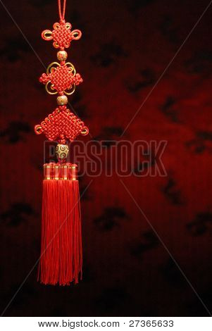 Chinese new year decoration--Closeup of Chinese Knot.