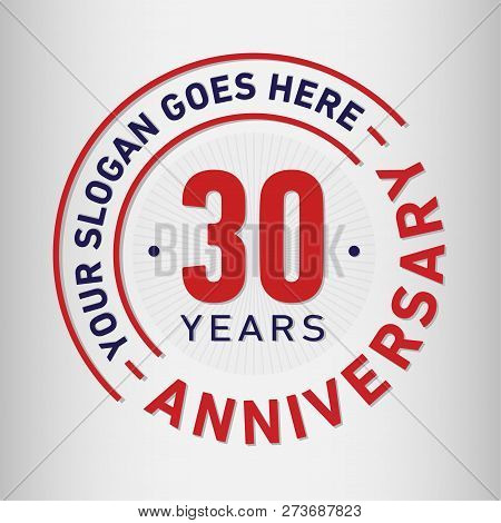 30 Years Anniversary Logo. 30th Vector And Illustration.
