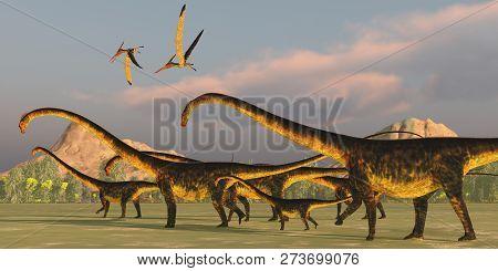 Barosaurus Dinosaur Herd