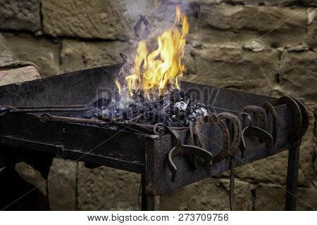 Coal Fire In A Forge