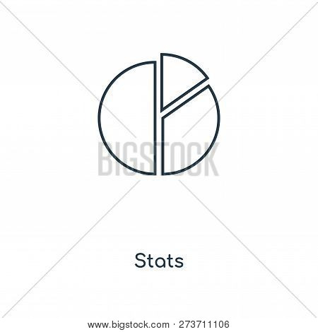 Stats Icon In Trendy Design Style. Stats Icon Isolated On White Background. Stats Vector Icon Simple