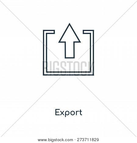 Export Icon In Trendy Design Style. Export Icon Isolated On White Background. Export Vector Icon Sim