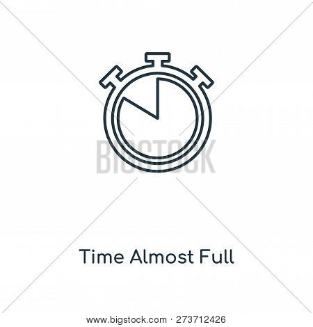 Time Almost Full Icon In Trendy Design Style. Time Almost Full Icon Isolated On White Background. Ti