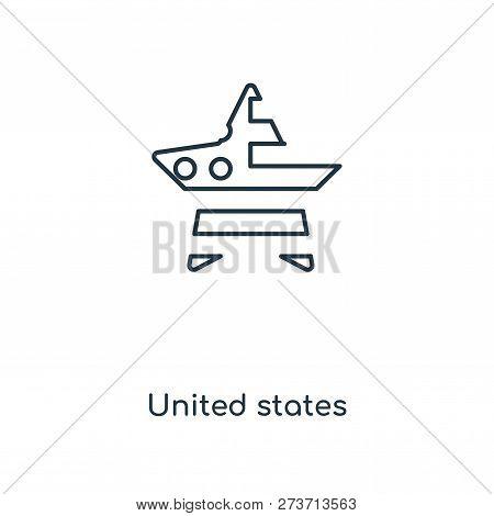 United States Icon In Trendy Design Style. United States Icon Isolated On White Background. United S