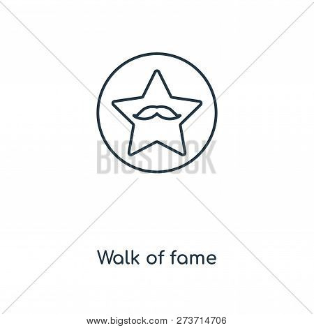 Walk Of Fame Icon In Trendy Design Style. Walk Of Fame Icon Isolated On White Background. Walk Of Fa