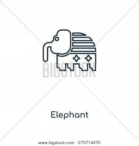 7ae2caf618af elephant icon in trendy design style. elephant icon isolated on white  background. elephant vector icon simple and modern flat symbol for web  site