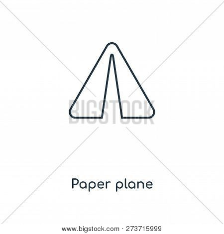 Paper Plane Icon In Trendy Design Style. Paper Plane Icon Isolated On White Background. Paper Plane