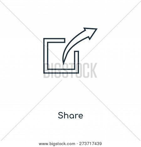 Share Icon In Trendy Design Style. Share Icon Isolated On White Background. Share Vector Icon Simple