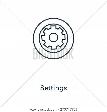 Settings Icon Trendy Vector & Photo (Free Trial) | Bigstock