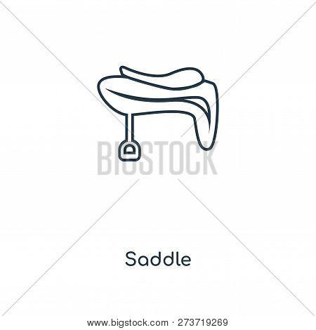 Saddle Icon In Trendy Design Style. Saddle Icon Isolated On White Background. Saddle Vector Icon Sim