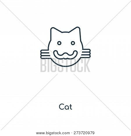 Cat Icon In Trendy Design Style. Cat Icon Isolated On White Background. Cat Vector Icon Simple And M