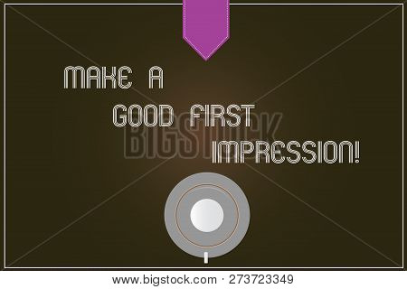 Word Writing Text Make A Good First Impression. Business Concept For Introduce Yourself In A Great L