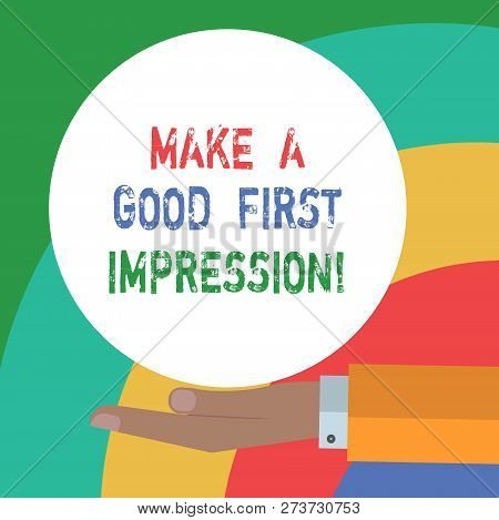 Conceptual Hand Writing Showing Make A Good First Impression. Business Photo Text Introduce Yourself