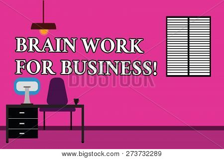 Word Writing Text Brain Work For Business. Business Concept For Brainstorming Creative Job Inspirati